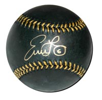Evan Longoria Autographed Black Baseball (#'d to 50)