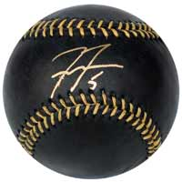 Freddie Freeman Autographed Black Major League Baseball #'d to 50