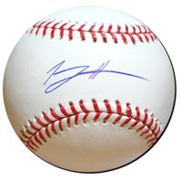 Tommy Hanson Autographed Baseball