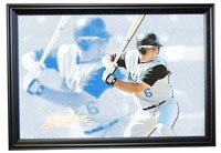 Billy Butler Autographed Canvas Print (frame optional)