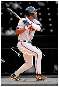 Jason Heyward Autographed Canvas Print (frame optional)