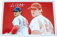 Nick Adenhart Autographed Canvas Print (frame optional) #'d to 50