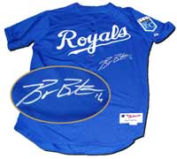 Billy Butler Autographed Kansas City Royals Authentic Blue Jersey (no number or name on back)