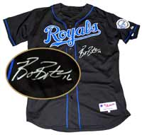 Billy Butler Autographed Kansas City Royals Authentic Black Jersey (no number or name on back)