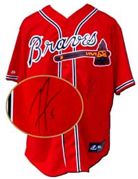 Freddie Freeman Autographed Atlanta Braves Replica Red Jersey (no number or name on back)