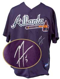 Freddie Freeman Autographed Atlanta Braves Replica Blue Jersey (no number or name on back)