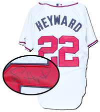 Jason Heyward Autographed Atlanta Braves Customized Authentic White Jersey
