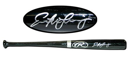 Evan Longoria Autographed Mini-Bat Black #'d to 50