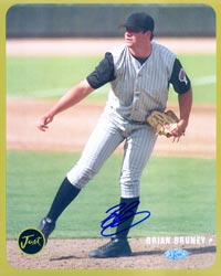 Brian Bruney Autographed 8x10 Card (Gold version #'d to 100)