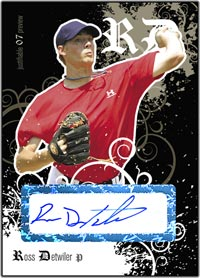 JFP07 Black Auto (#'d to 25) Ross Detwiler