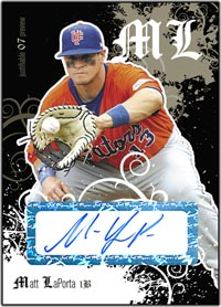 JFP07 Black Auto (#'d to 25) Matt LaPorta