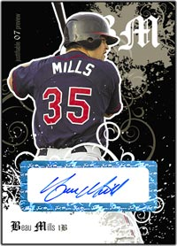 JFP07 Black Auto (#'d to 25) Beau Mills