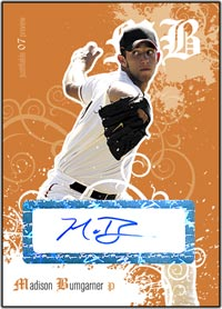 JFP07 White Auto (#'d to 200) Madison Bumgarner