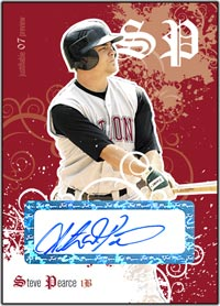 JFP07 White Auto (#'d to 200) Steve Pearce