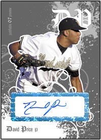JFP07 White Auto (#'d to 200) David Price