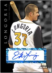 JL07 Black Auto (#'d to 25) Evan Longoria
