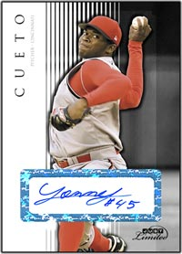 JL07 White Auto (#'d to 10) Johnny Cueto