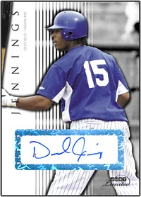JL07 White Auto (#'d to 10) Desmond Jennings