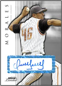 JL07 White Auto (#'d to 10) Franklin Morales