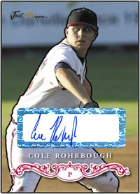 JRP07 White Auto (#'d to 200) Cole Rohrbough