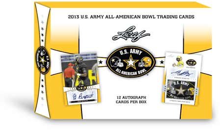 2013 Leaf U.S. Army All-American Bowl Football Box (12 Autos)
