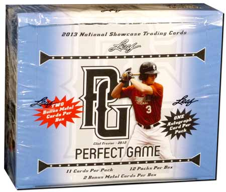 2013 Leaf Perfect Game Baseball Hobby Box (12 Pack box with 1 Autograph per pack!)