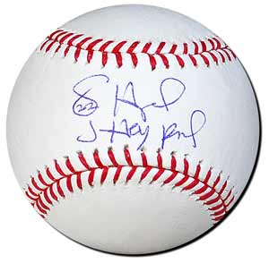 Jason Heyward Autographed Major League Baseball - inscribed - J-Hey Kid