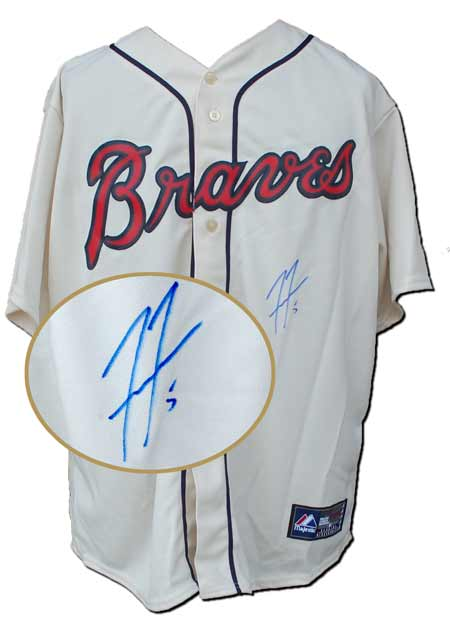 Freddie Freeman Autographed Atlanta Braves Replica Cream Jersey (no number or name on back)
