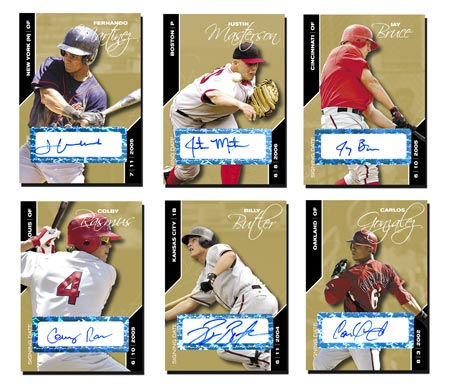 Signing Date 2008 25-card Gold Autograph Set (1-25)