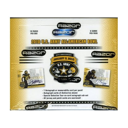 2010 Razor U.S. Army All-American Bowl Football Box (10 Packs)