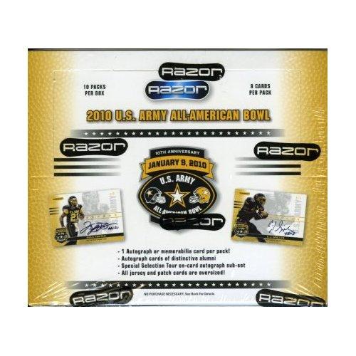 2010 Razor U.S. Army All-American Bowl Football Box (10 Packs)