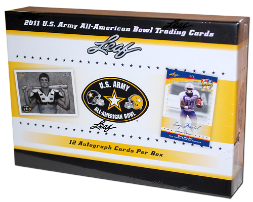 2011 Leaf U.S. Army All-American Bowl Football Box (12 Autos)