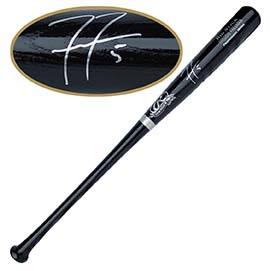 Freddie Freeman Autographed Black Bat